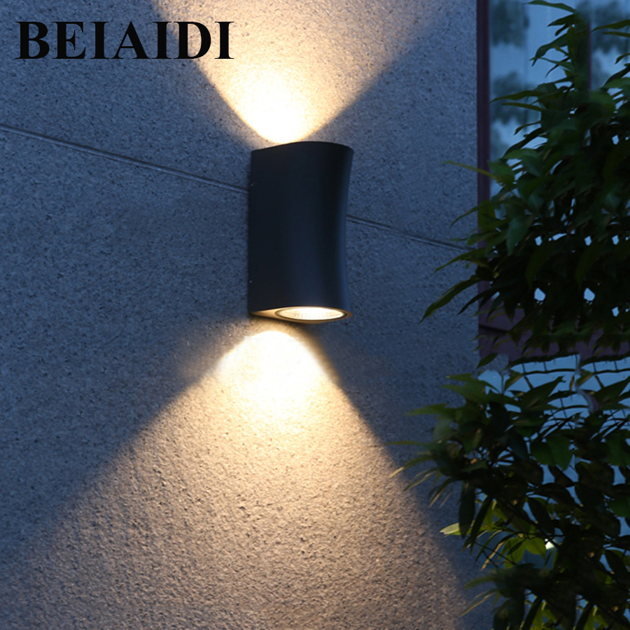 BEIAIDI minimalisme haut bas double tête applique 10 W LED étanche jardin porche applique murale couloir extérieur voie appliques murales