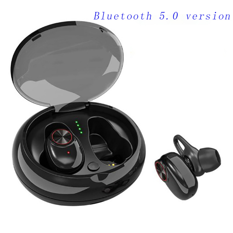 Smart Bluetooth 5 0 earphones Binaural wireless 3D stereo surround soun noise reduction waterproof automatic Pair charging box in Bluetooth Earphones Headphones from Consumer Electronics
