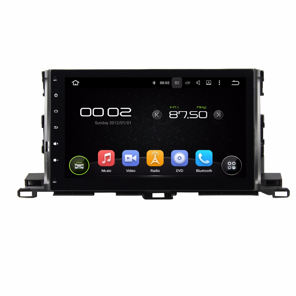 KLYDE 2 Din 10.1 Android 7.1 Car Multimedia Player For Toyota Highlander 2015-2017 Radio Stereo Quad Core Without DVD Audio
