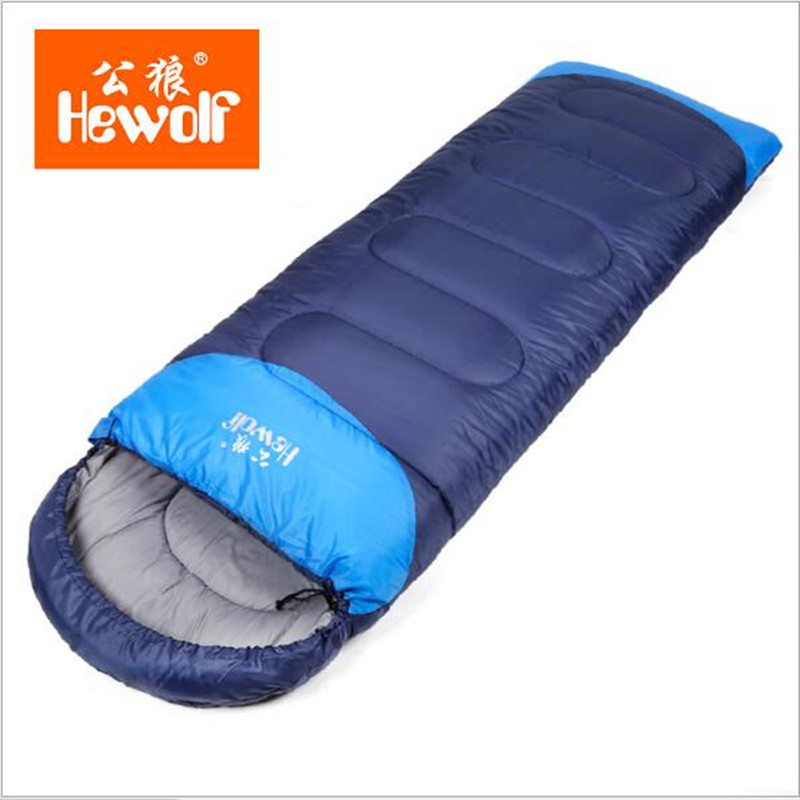 Outdoor adult autumn and winter sleeping bag camping sleeping bag lengthened warm cotton indoor envelope sleeping bag 1.8kg стоимость