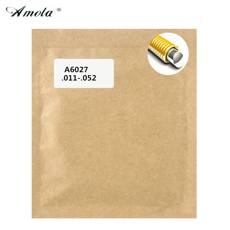 Acoustic Strings Amola Original A6027 Great Tone Long Life Phosphor 80/20 Bronze 011-052 Coating Wound Guitar Strings 3 sets