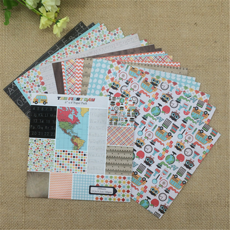 24 Sheets Scrapbook Paper Craft Diy Origami Art Card Making Photo