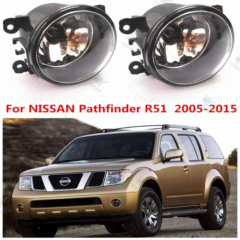 For NISSAN PATHFINDER R51  2005-2015  Fog Lights Halogen Fog Lamps Original Car Styling  1 SET  35500-63J02  1209177-XR837532 car styling fog lamps for bmw e91 touring 2005 2007 1 set