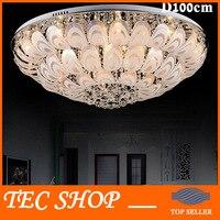 Лучшая цена современный K9 Crystal Light круглый светодиодный потолочный светильник Гостиная Crystal Light Павлин лампы Украсить Ресторан свет