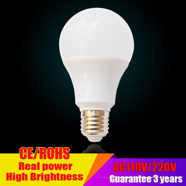 Led Lamp E27 220V LED Bulb Light B22 3W 5W 7W 9W 12W 15W Led light bulb SMD2835 Lampada de Bombillas LED Candle Light