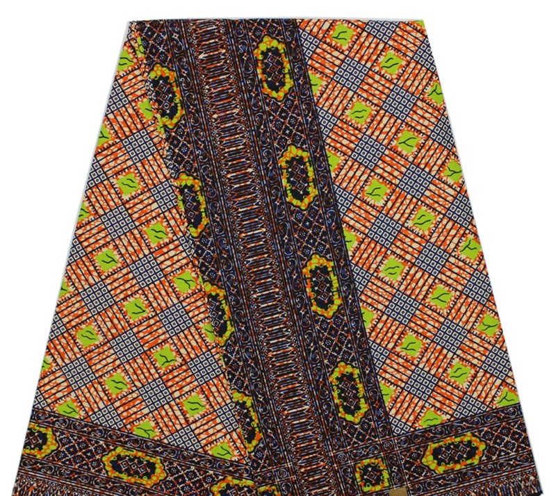 Good quality African super wax hollandais prints wax fabric fashion Nigerian cotton fabric material for sewing dress 6 yards