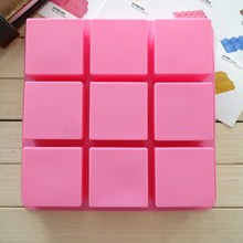 Поставка 9 квадратных силиконовых форм для торта DIY мыла ручной работы