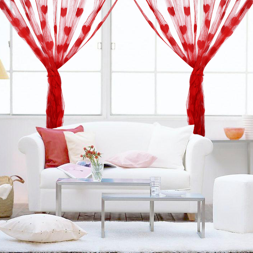 3mx3m heart tassel string line curtains for wedding home for Hotel door decor