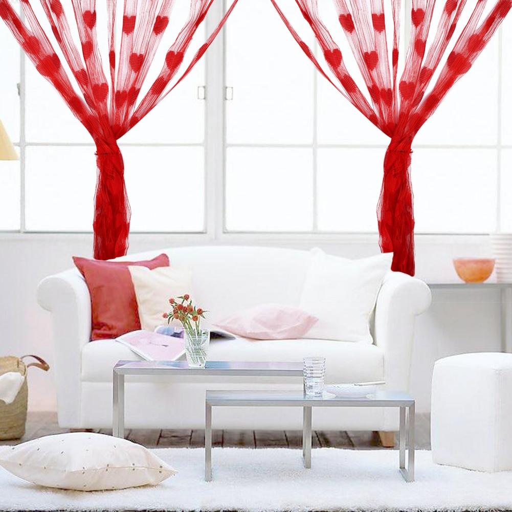 3mx3m Heart Tassel String Line Curtains For Wedding Home Living Room Bedroom Door Divider Hotel Cafe