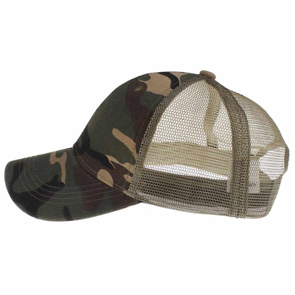 Camuflagem Respirável Das Mulheres dos homens Bonés de Beisebol de Verão Hip Hop Chapéus Do Camionista Moda Unis Pai Do Esporte Ao Ar Livre Tampas chapeau casquette
