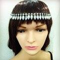 Fashion rhinestone crystal elastic headbands for women party wedding hair accessories Boho vintage hair jewelry 2016 girls