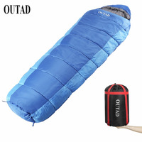 OUTAD Sleeping Bag Outdoor Mummy 40 50 Degree Sleeping Bag For Camping Hiking Backpacking Free Shipping