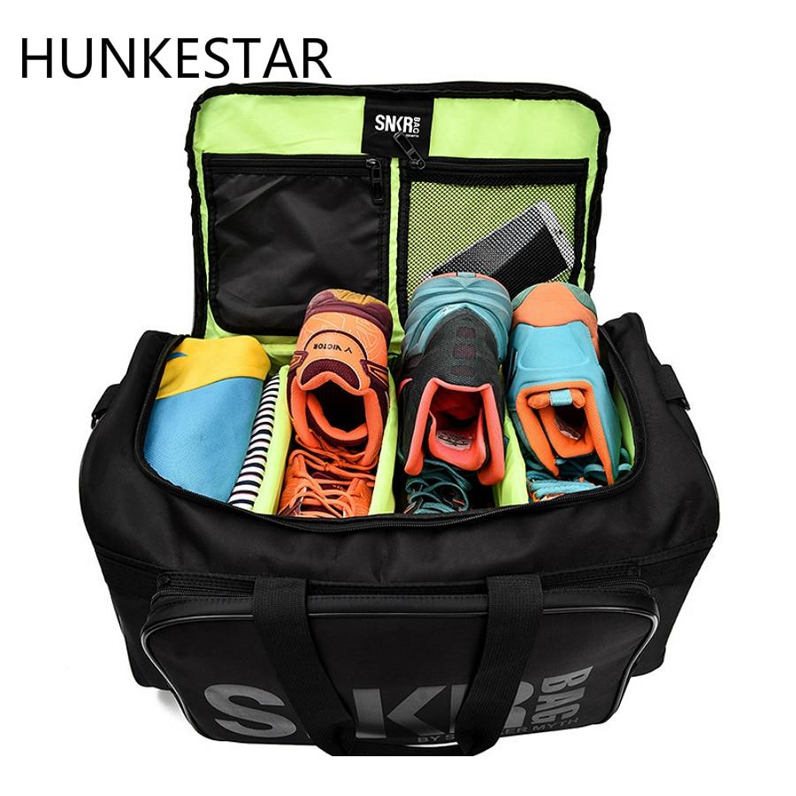 2019 hommes femmes sac de Sport pour baskets chaussures compartiment emballage Cube organisateur étanche en Nylon Sport voyage sacs polochon en gros