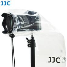 JJC 2PCS DSLR Lens Rain Cover Protector Mirrorless Cameras Raincoat for Canon Nikon Sony Fuji Panasonic Leica See-through Bag