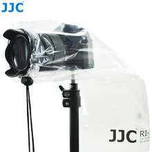 JJC 2PCS עמיד למים DSLR עדשת גשם כיסוי מגן ראי מצלמות מעיל גשם עבור Canon Nikon Sony Fuji Panasonic שקוף