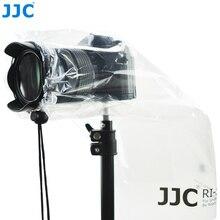 JJC 2PCS Waterproof DSLR Lens Rain Cover Protector Mirrorless Cameras Raincoat for Canon Nikon Sony Fuji Panasonic Transparent