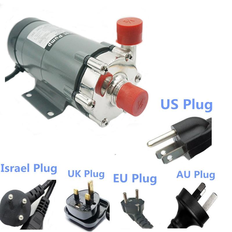 Pompa Penggerak Magnet 15RM Homebrew Pompa, Pembuatan Bir Pompa dengan 304 Stainless Steel Kepala Homebrew dengan Plug