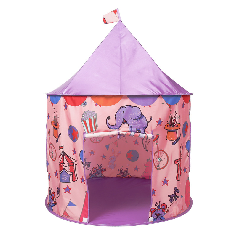 Children Tents Game House Indoor Outdoor Play Baby Toy Girl Boy Cartoon Playhouse Foldable Kid Tent new arrival indoor outdoor large children s house game room children s toys 3 in 1 square crawl tunnel folding kid play tent