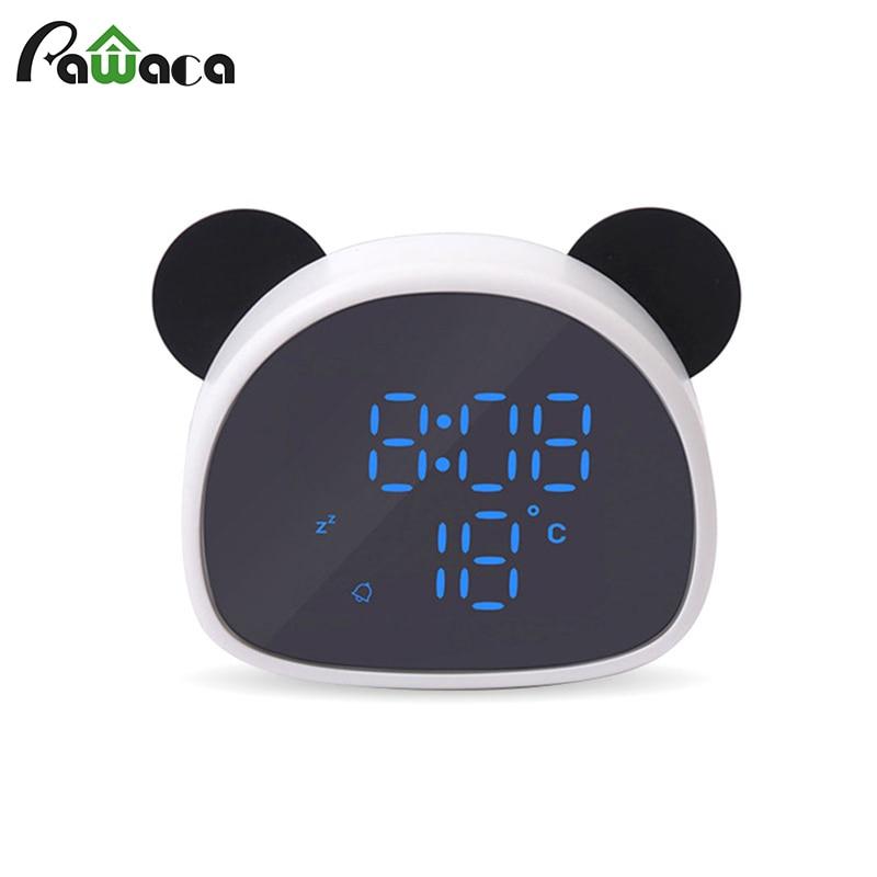 Portable, Display, Cartoon, Panda, LED, Temperature