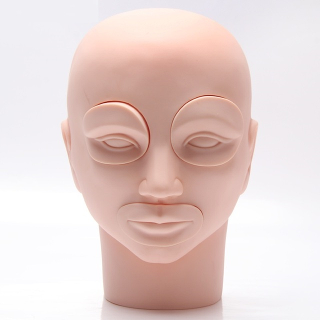 CAMMITEVER Mannequin Head For Eyelash Eyebrow Lip Mannequin Head For Makeup Practice Dummy Training Head Paspop Model