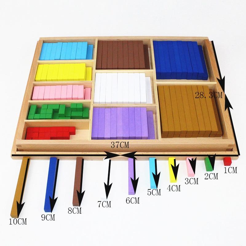20 sortes 1-10 cm blocs bâton numérique en bois jouets enfant jouets éducatifs enseignement Montessori jouet de mathématiques - 6