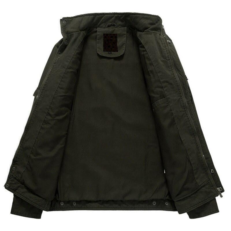 Plus La Haute Mâle 6xl Col Nouvelle Casual khaki army Green Marque Stand Mode Bomber Manteau Militaire Hommes Qualité Veste De Black Vêtements Taille nw0aqU6Zw