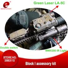 Element Defense Tactical PEQ Green Laser LA-5C BLOCK II IR WMX200 Airsoft Scout Gun Weapon Light Strobe Version UHP Logo EX424