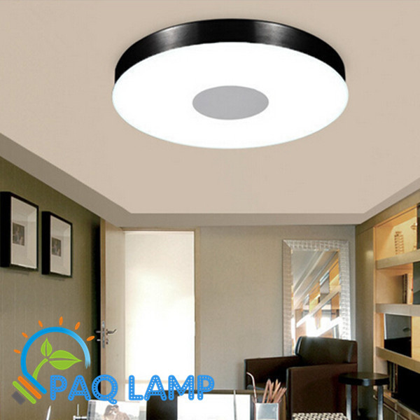 Modern Ceiling Lamp Lighting Dia36cm Round Aluminum Tempered Glass Lamps  Led Smd Bedroom Light Fixture