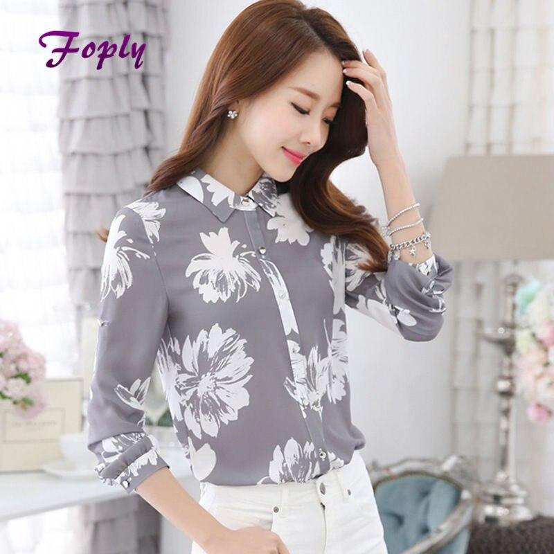 Flor Madre Impreso Blusa Camisas Mujer Manga Larga Tallas grandes Con Muescas Mu