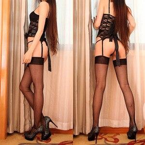 Image 2 - שחור בציר הדק נגד וו סקסי שאינו למתוח גרביים לנשים נקבה רטרו הלבשה תחתונה גרביונים אבזרים מתנה M XL 0928