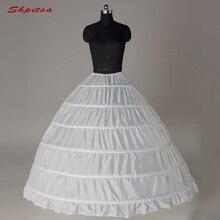 6 Hoops Petticoat Unterrock für Hochzeit Kleid Ballkleid Krinoline Frau Hoop Rock
