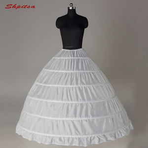 Image 1 - 6 الأطواق ثوب نسائي تحتية لفستان الزفاف الكرة ثوب قماش قطني امرأة هوب تنورة