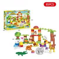 New Brands Original Animal Large Particle Building Blocks Zoo Set Kids Toys DIY Brick 50pcs Compatible LegoINGlys DuploE Gifts