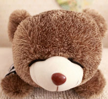 80/120cm Cute Hedgehog Bear Plush Toys Sleep Bear Cloth Doll Pillow Cushion stuffed plush Christmas present Kids Toys