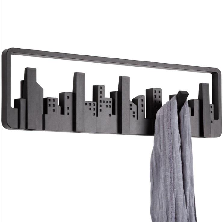 Canadá creativo horizonte multigrupo ganchos decoración del hogar llaves negro