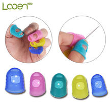 Looen Brand 3size Silicone Thimble Tip Hollowed Out Breathable Freely For Withnail Diy Sewing Needlework Accessory Colors Random(China)