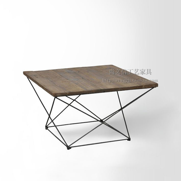 LOFT Retro Minimalist Industrial Style Furniture Living Room Coffee Table  Made Of Old Wood , Wrought Iron Coffee Table Corner A In Bar Tables From  Furniture ...