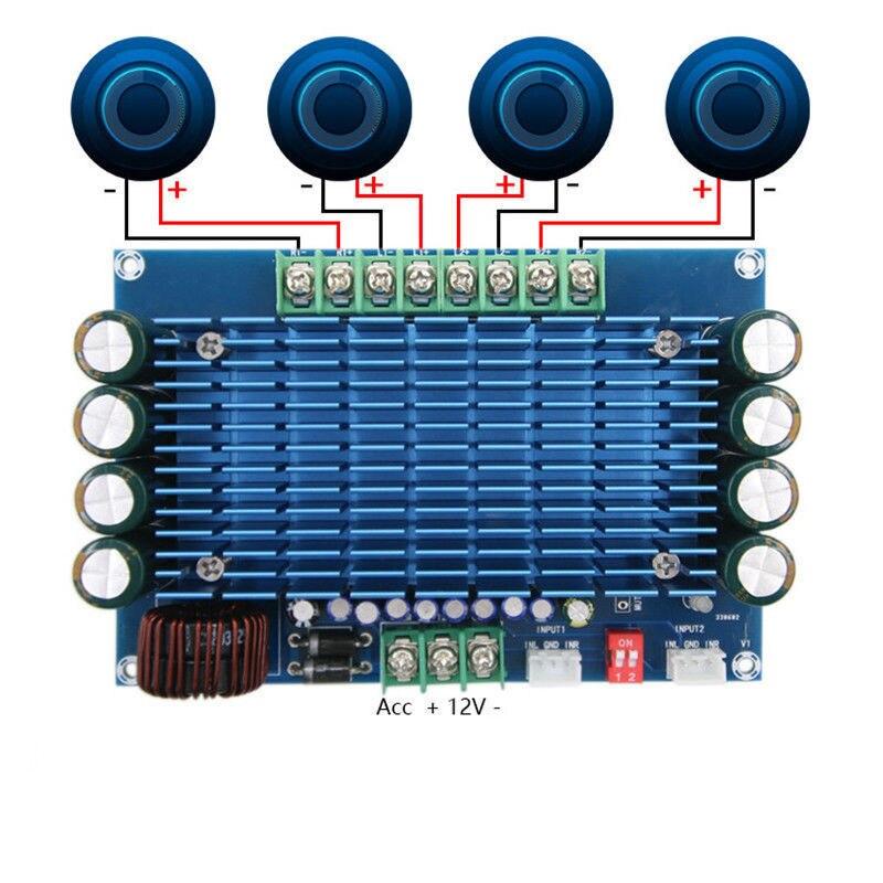 купить 50W x4 TDA7850 Car 4 Channels 12V Large Power Audio ACC Digital Amplifier Board по цене 1466.03 рублей