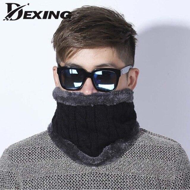 Dexing Unisex Winter Gestrickte Schals Gamasche Plus Baumwolle