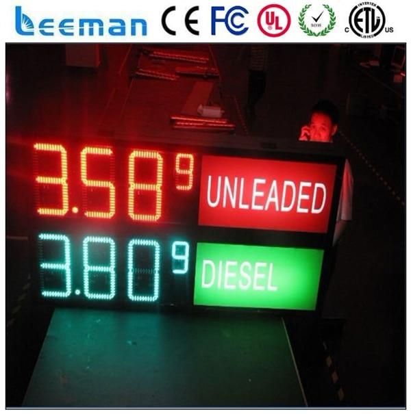 Leeman Outdoor Led Clock Temperature Display Gas Station