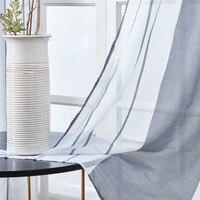 Topfinel серый полувуаль прозрачные шторы для спальни кухня гостиная полоса градиент домашний декор тюль на окна