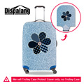 Dispalang Denim Pattern Elastic Luggage Protective Cover For 18-30inch Case Flower Suitcase Cover With Zipper Travel Accessories