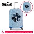 Dispalang padrão denim elástica bagagem capa protetora para 18-30 polegada caso flor tampa da mala com zíper acessórios de viagem