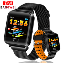 LIGE Fitness Tracker Smart Sport Bracelet Men Ip67 Waterproof Smart Wristband Heart rate Monitor Pedometer Watch For Android ios q8 fitness tracker women smart watch men smartwatch ip67 waterproof bracelet heart rate monitor sport wristband for android ios