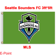 1 piece 144cm*96cm size MLS Seattle Sounders FC Flying flag A