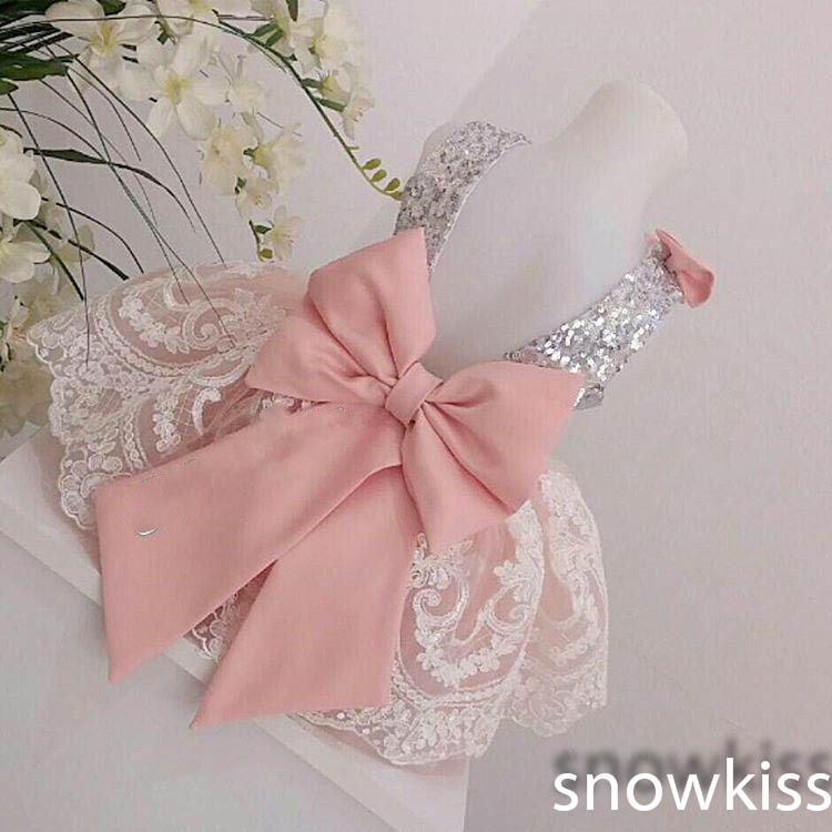 2017 Cute Lace flower girl dresses with Bow baby one year Birthday Party Dress beauty toddler girl pageant dresses ball gowns 15 color infant girl dress baby girl pageant dress girl party dresses flower girl dresses girl prom dress 1t 6t g081 4