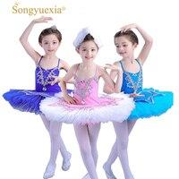 romantic ballet Children's Swan Lake Ballet Costume Ballerina Dress Kids Short Feminino Ballet Tutu Skirt Dance Dress For Girls