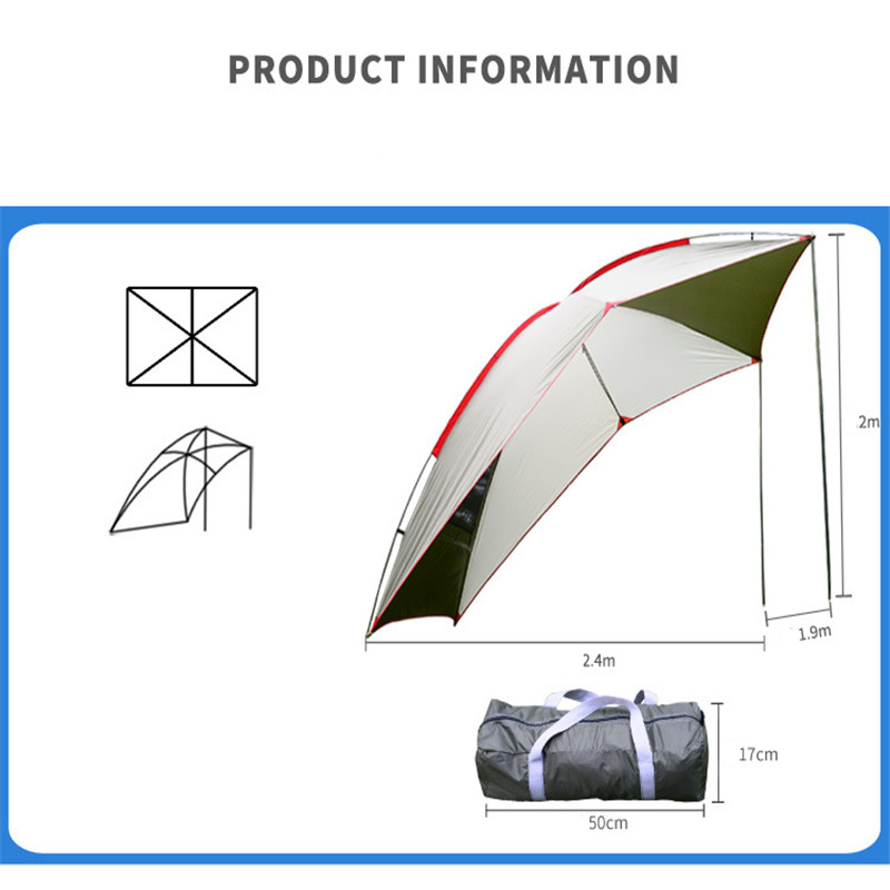 SGODDE En Plein Air Voiture Queue Compte 5-8 Les Gens Utilisent Étanche Parasol Tente Barbecue Camping Sauvage En Plein Air Voyage Auto- conduite Tente
