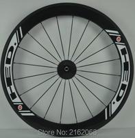 1pair Newest White Color Logo 700C 60mm Tubular Rim Road Bicycle 3K UD 12K Full Carbon