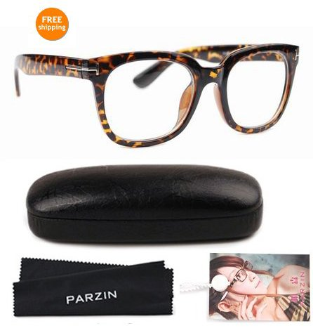 free shipping brown leopard unisex plasic frames brand new glasses frame clear lens eyewear with